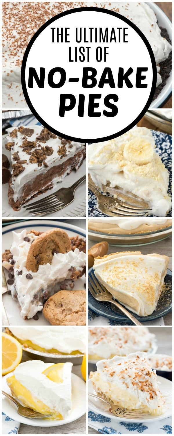 Ultimate List Of No Bake Pie Recipes Crazy For Crust