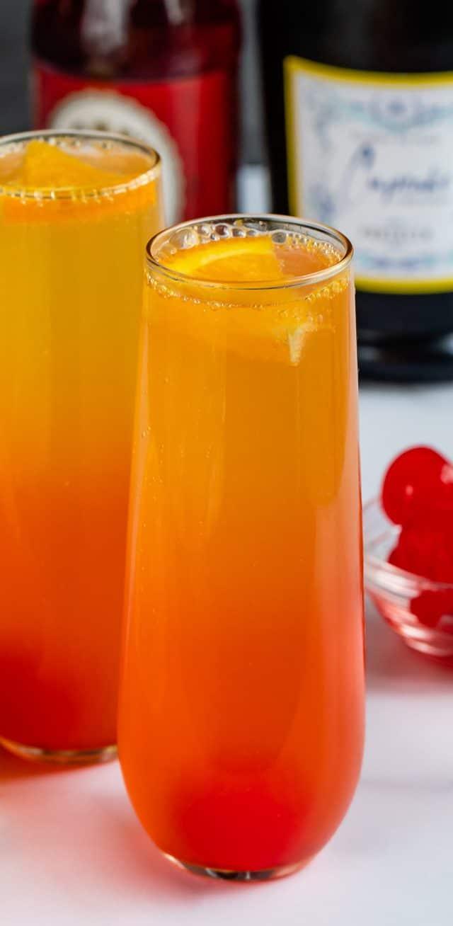 glass of sunrise mimosa