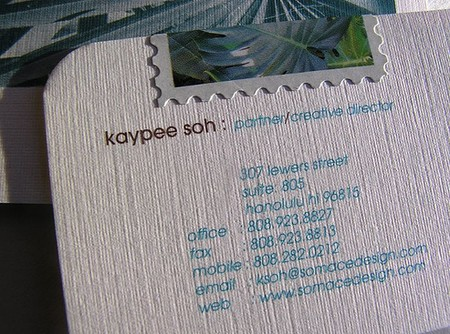 Kaypee Soh business card design