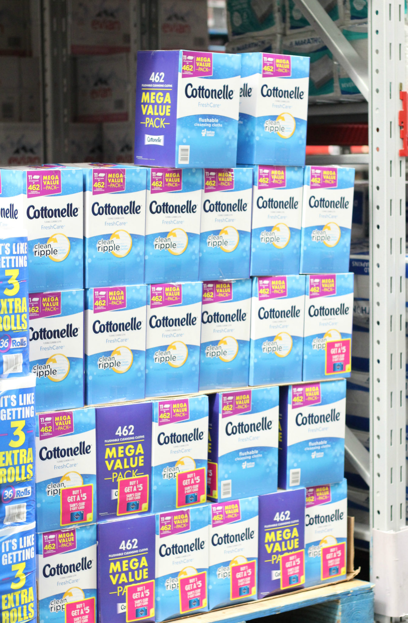 Cottonelle Fresh Care Flushable Wipes at Sam's Club