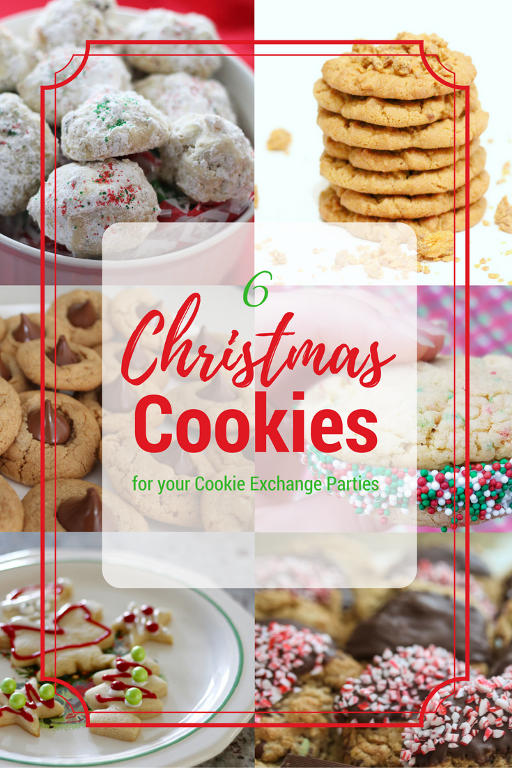 6 Christmas Cookie Recipes for Christmas Cookie Exchange Parties
