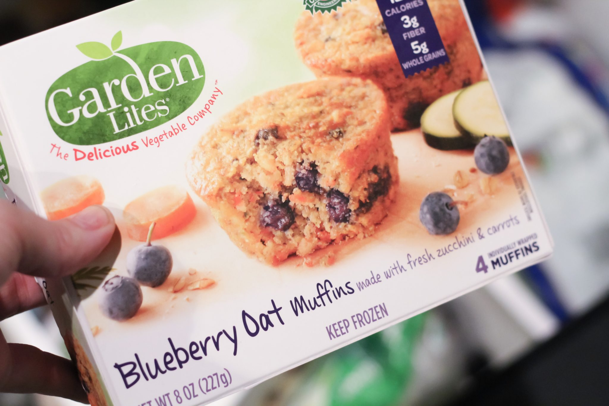 Garden Lites Blueberry Oat Muffins are packed with 33% vegetables and a great source of nutrition for kids.