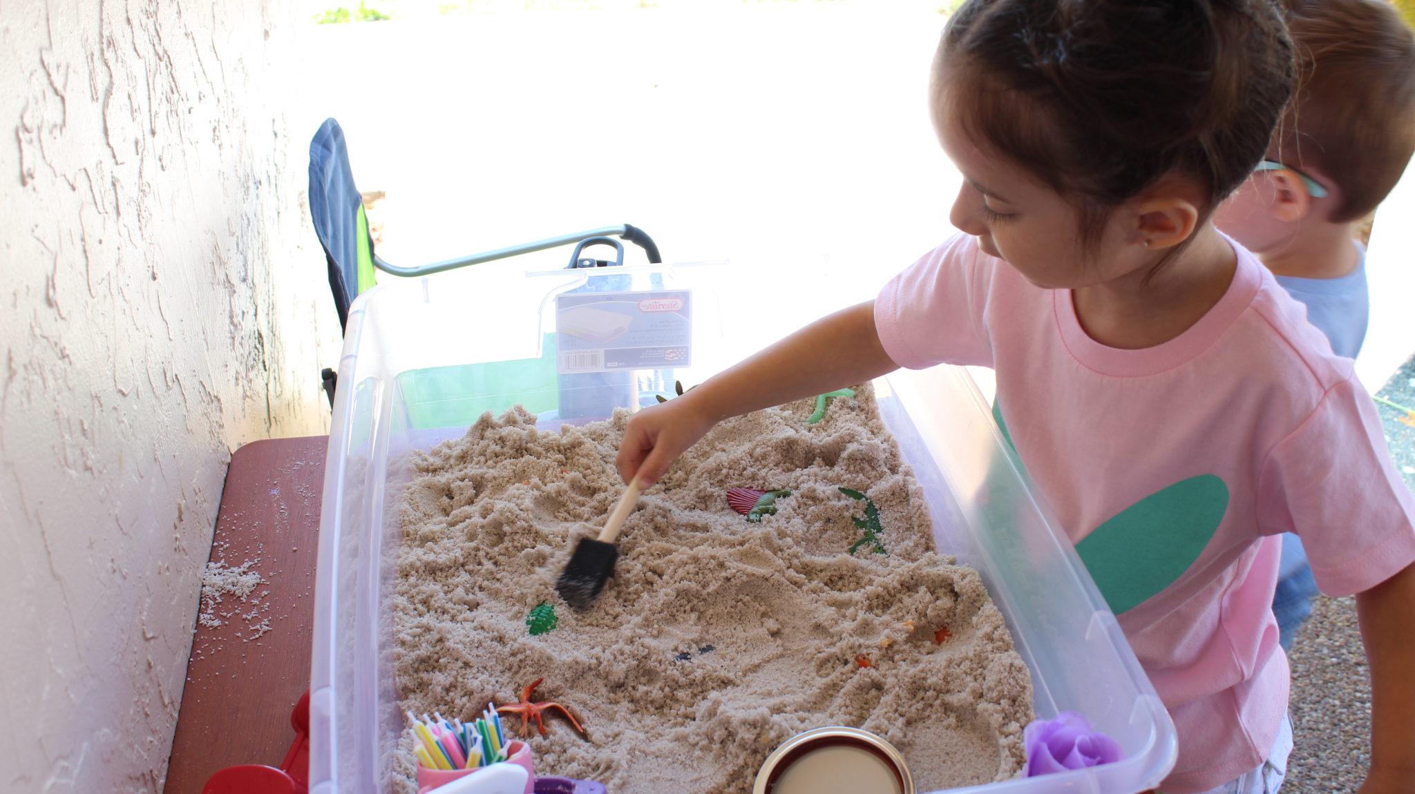 Dinosaur Excavation Sensory Bin for Toddlers