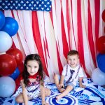 4TH OF JULY AMERICAN FLAG BACKDROP AND DIY CONFETTI POPPERS