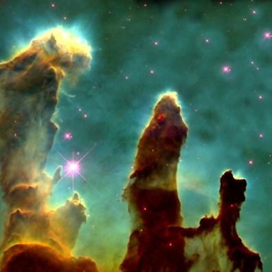 Filary stworzenia, czyli Mgławica Orzeł – najsłynniejsze zdjęcie wykonane przez Hubble'a. 1 kwietnia 1995 roku. Fot. NASA/ESA