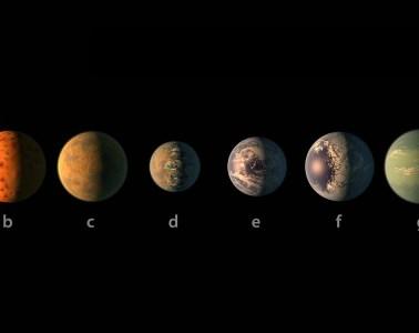 Planety układu TRAPPIST-1 Fot. NASA/JPL-Caltech/R. Hurt, T. Pyle (IPAC)