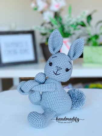 bunny curtain tie back crochet pattern