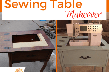Refinished Sewing Table