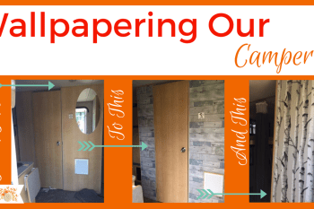 Wallpapering Our Camper