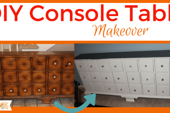 DIY Console Table Makeover