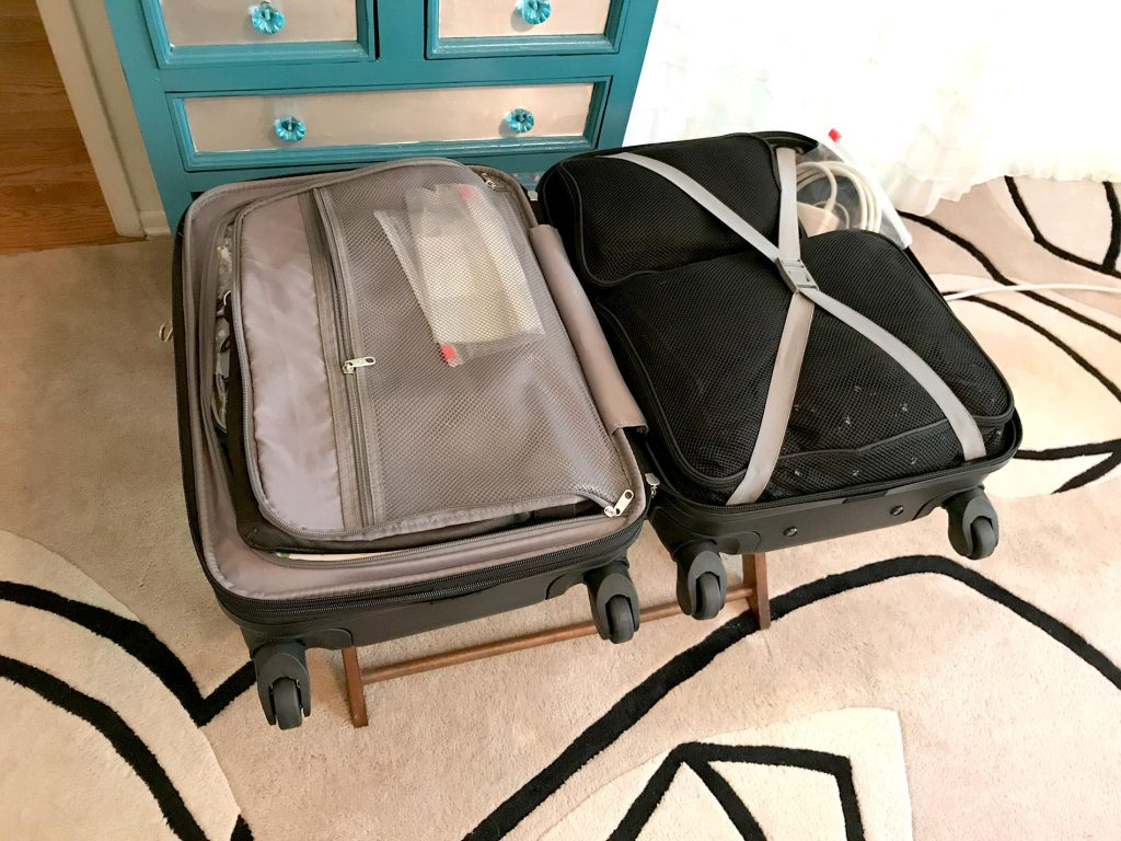 Carry on suitcase ready for Helsinki