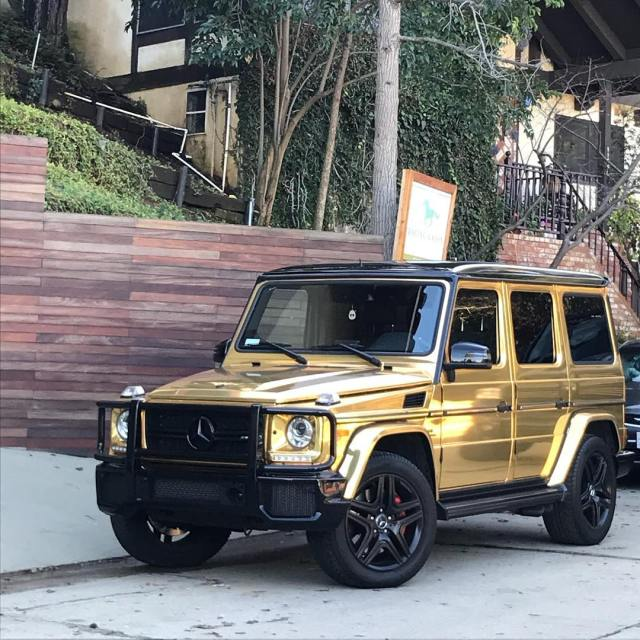 Oh just another gold plated Mercedes hollywoodhills seenonmywalk