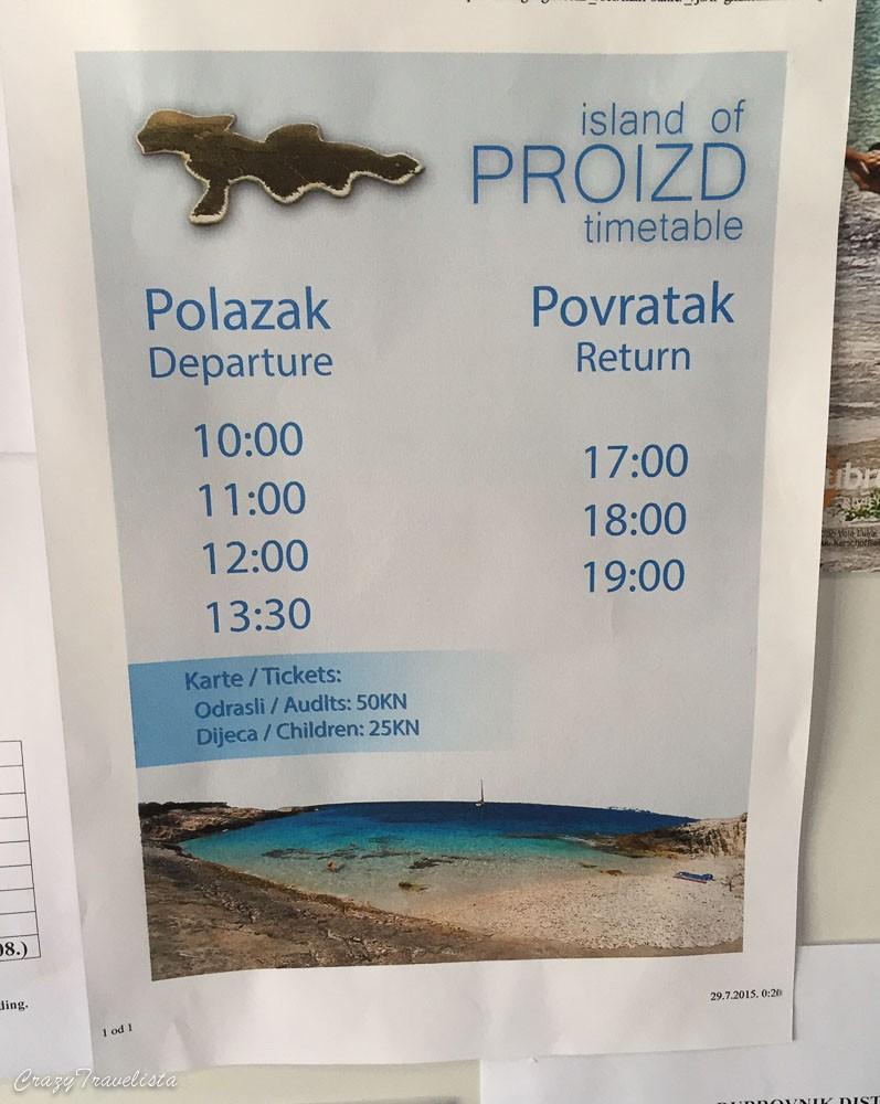 Proizd boat timetable