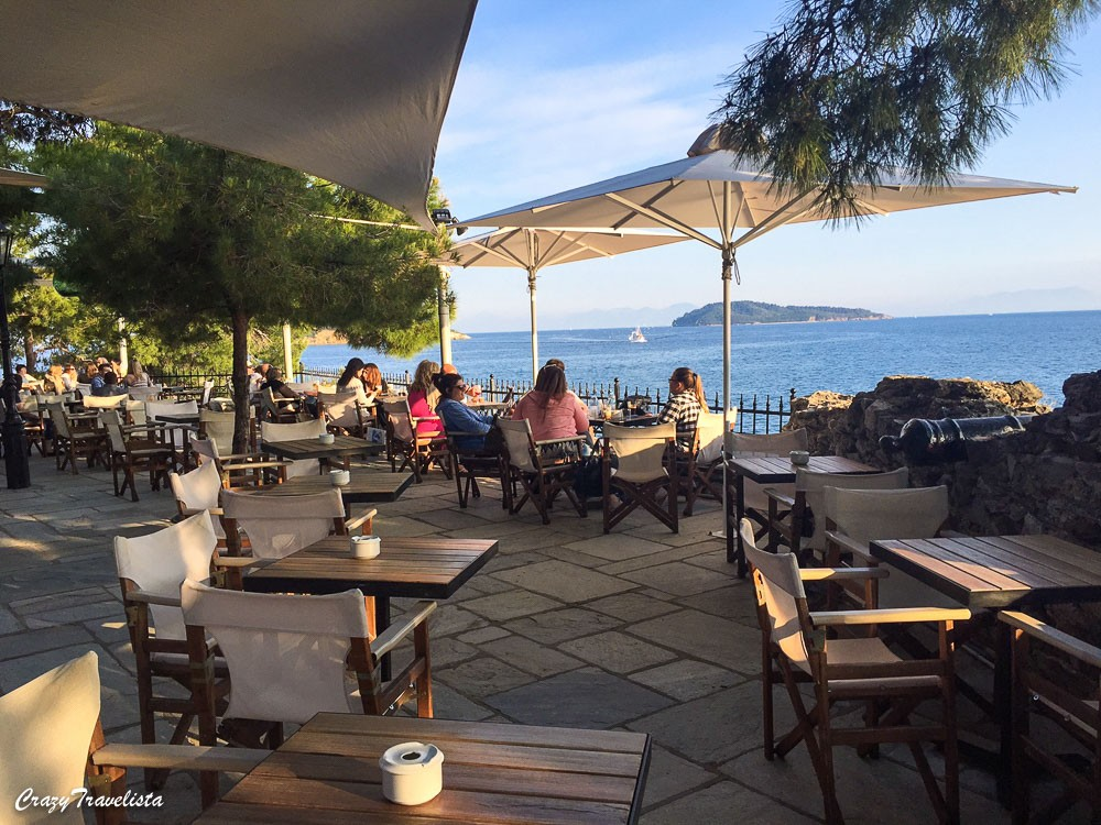 Bourtzi cafe, Skiathos