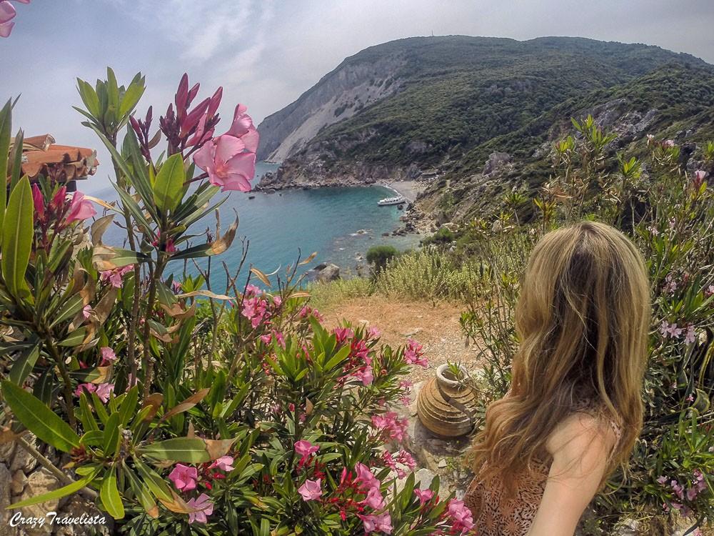 Hike up to Kastro town on Skiathos islandw GoPro
