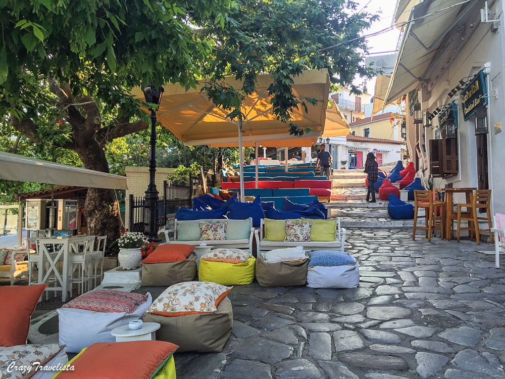 Colorful Skiathos Town