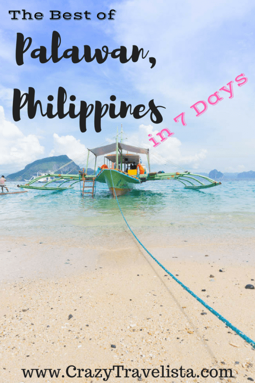 Palawan 7 day itinerary