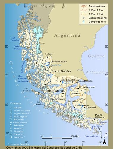 patagonia map photo