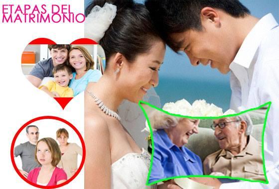 Las 5 etapas del matrimonio