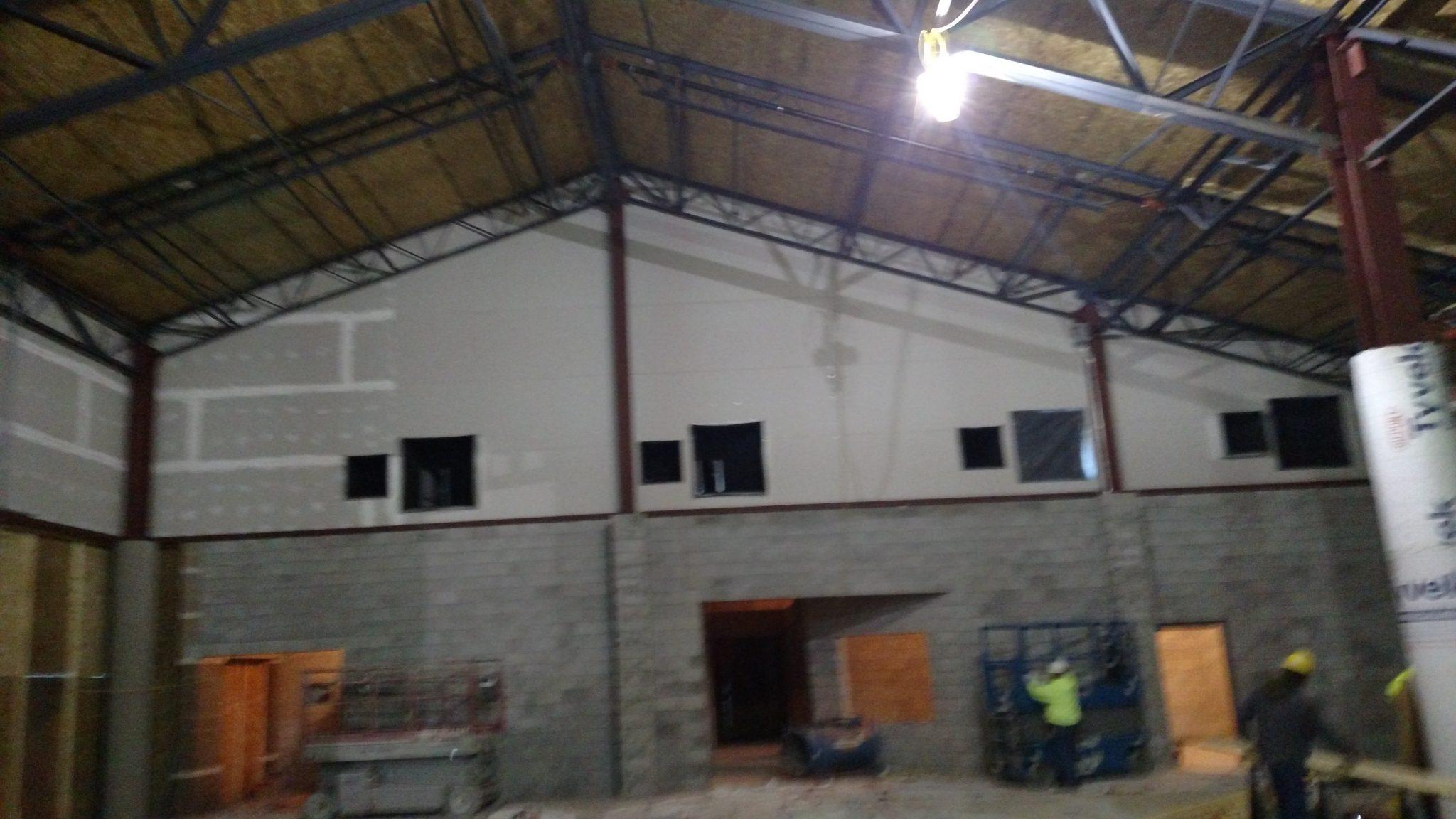 interior walls and floors