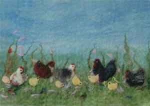 Felt Chicken Picture Kit-0