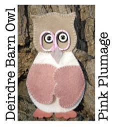 Pink Plumage Deirdre Barn Owl Scissor Keep Sewing Kit-0