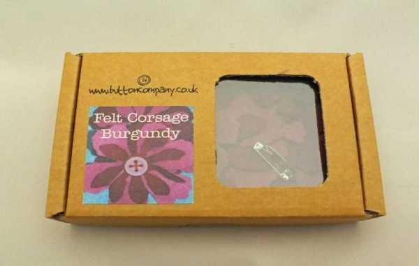 Burgundy Felt Corsage Sewing Kit-0