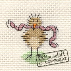 Tiddlers Cross Stitch Kits - Bird and Worm-0
