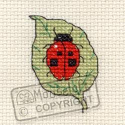 Tiddlers Cross Stitch Kits - Ladybird on Leaf-0