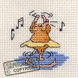 Stitchlets Cross Stitch Kits - Ballet Mouse-0
