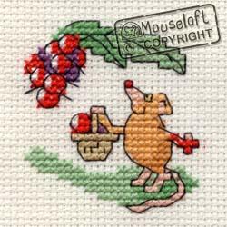 Stitchlets Cross Stitch Kits - Blackberrying Mouse-0