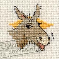 Stitchlets Cross Stitch Kits - Braying Donkey-0