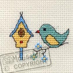 Stitchlets Cross Stitch Kits - Bird and Birdhouse-0