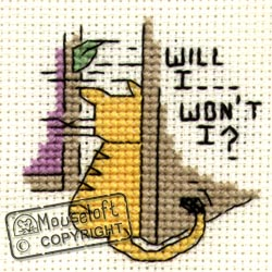 Will I, Won't ? Mini Cross Stitch Kit-0
