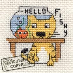 Hello Fishy Mini Cross Stitch Kit-0
