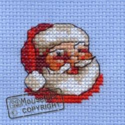 Christmas Cross Stitch Card Kit - Father Christmas-0