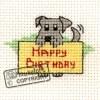 Occasions Cross Stitch Card Kit - Happy Birthday Dog-0