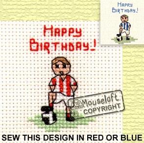 Occasions Cross Stitch Card Kit - Little Footballer-0