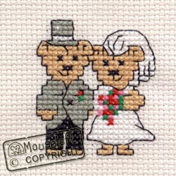 Occasions Cross Stitch Card Kit - Bride and Groom-0