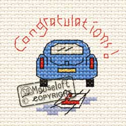 Occasions Cross Stitch Card Kit - Driving Test Congrats-0