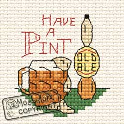 Occasions Cross Stitch Card Kit - Have a Pint-0