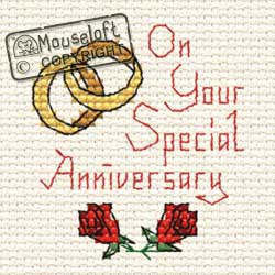 Occasions Cross Stitch Card Kit - Special Anniversary-0