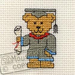 Occasions Cross Stitch Card Kit - Graduation Teddy-0