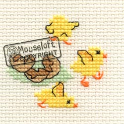 Occasions Cross Stitch Card Kit - Easter Chicks-0