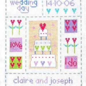 Wedding Sampler Cross Stitch Picture Kit-0