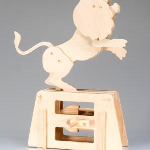 Flatbits Lion Wooden Automata Kit-0