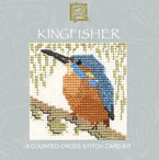 Kingfisher Cross Stitch Card Kit-0