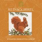 Red Squirrel Cross Stitch Card Kit-0
