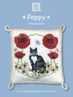 Cross Stitch Pincushion Kit - Poppy-0