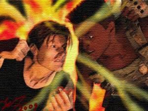 Wild FIRE: Legend of the Ryukage - Alex VS Vince 2